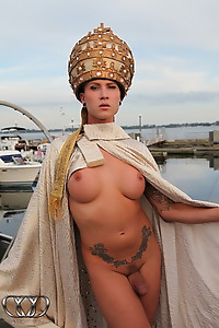 Naked holy hotness Danni spreads on boat
